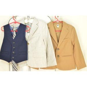 Janie and Jack Jackets & Coats - Lot 2 boys 5 Janie and Jack sports coats gray (NWT